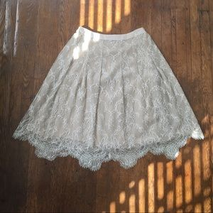Peggy Jennings Cream Lace Skirt